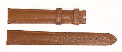 Authentic Cartier 14.5MM x 12MM Brown Grain Calf Leather Watch Bands 1ANCFL23