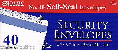 40 Peel Self-seal White Letter Mailing Long Security Envelopes 4-18 X 9-12