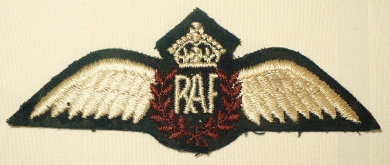 WWII ROYAL AIR FORCE RAF WING PATCH