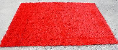 Premium Heavy Duty Indoor/Outdoor Red Artificial Grass Turf Area Rug 5' x 7'