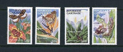C619   Gabon 1997  flora flowers butterflies insects   4v.   MNH