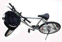 bike (bicycle) basket: fabric and collaposible