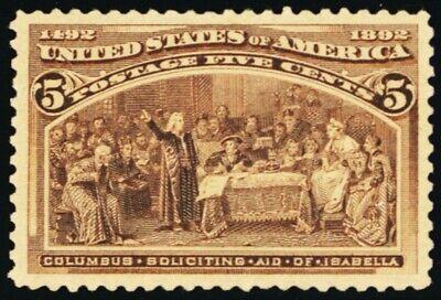 234, Mint 5¢ Superb OG XLH Very Pretty With PFC Certificate - Stuart Katz