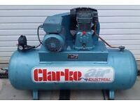 Clarke Industrial 200L Air Compressor 240v single phase, 4HP 18CFM