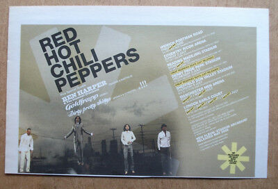 RED HOT CHILI PEPPERS - UK TOUR DATES - 2006 - ORIGINAL MUSIC ADVERT 25 x 16 cm