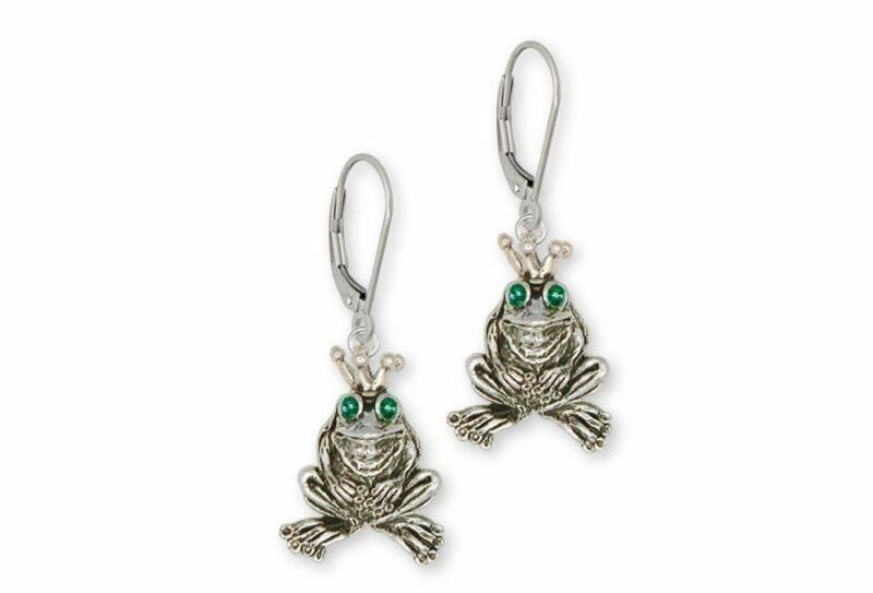 Frog Earrings Jewelry Sterling Silver Handmade Frog Earrings FG18-XE
