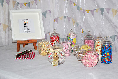 10 x Candy Buffet Bar Sweet Jars Sweet Table Wedding Baby Shower Birthday Party](Baby Shower Candy Buffets)
