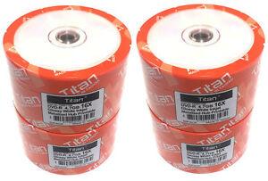 200 Pak Titan 16X DVD-R Glossy White Inkjet Hub Printable Discs ( T6891199-200 )