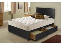 Double divan bed with 2 drawers