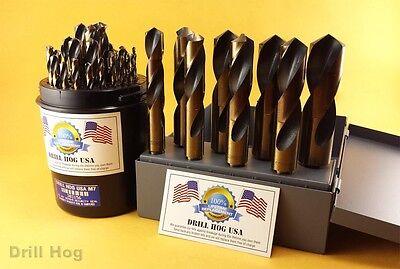 Drill Hog® 37 Pc Silver & Deming Drill Bit Set 1/16