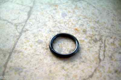 Black Segment Captive Bead Ring 16g 3/8