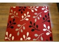 Medium sized red rug 160cmx120cm