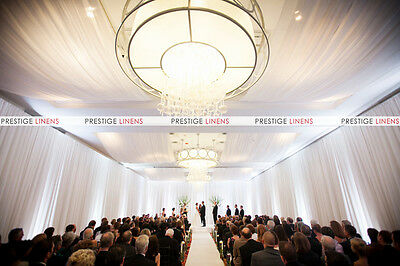 Wall & Ceiling Draping Sheer Voile Chiffon Drape Panel Wedding Backdrops 10ft W