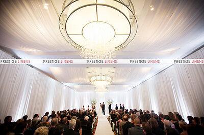 Wall & Ceiling Draping Sheer Voile Chiffon Drape Panel Wedding Backdrops 10ft W
