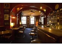 Full time and part time bar/floor staff required for a busy Private members club in Soho