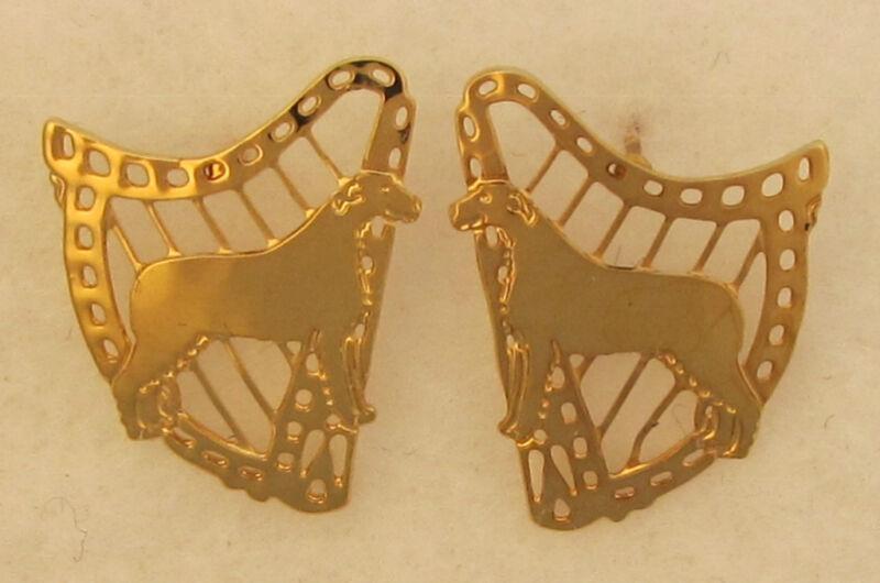Irish Wolfhound Jewelry Post Earrings by Touchstone