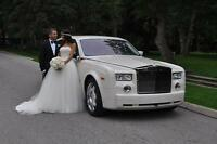 Canada's ONLY White Extended Rolls Royce Phantom Limousine Limo
