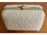 John Lewis Pearl Clutch Bag with chain