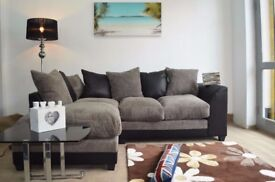💥💥🔥💥100% CHEAPEST PRICE EVER💥💥 New Jumbo Cord 'Double Padded' Byron Corner Or 3+2 Leather Sofa