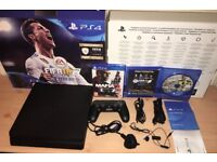 Sony Playstation 4 Slim (PS4) 500GB Boxed like NEW with 2 Games , 1 Controller, Headset and Warranty