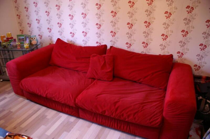 rotes big sofa zu verkaufen in dortmund dortmund scharnhorst ebay kleinanzeigen. Black Bedroom Furniture Sets. Home Design Ideas