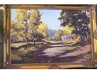 Sam Mclarnon oil painting framed.