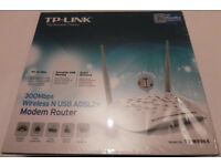 TP Link Wireless N 300 Mbps Modem Router & USB WORKS WITH BT TALK TALK SKY EE VIRGIN PLUSNET TESCO