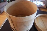 Wooden Cheese Barrel