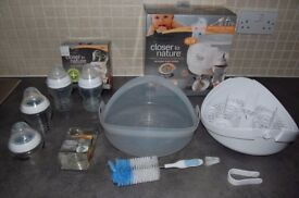 Microwave steam bottle steriliser, Tomme Tipee + EXTRAS