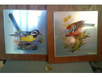 metal on wood bird pictures