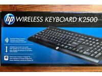 HP 2500K Wireless Keyboard (Brand New &Sealed)