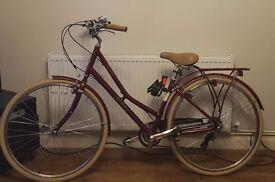 Women's Red Pendleton Somerby Hybrid Bike