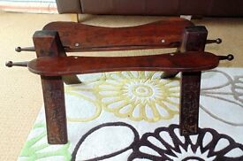 (#48) Solid wooden vintage unusual stool excellent condition £35 ONO