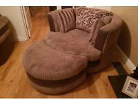 DFS corner sofa and cuddle chair. 400 ono