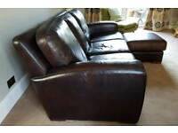 Free leather sofa and footstool