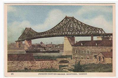 Jacques Cartier Bridge Montreal Quebec Canada Postcard