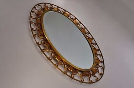 Antique bronze mirror, by Moderna, 1940`s ca Italy