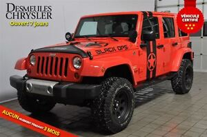 2013 Jeep WRANGLER UNLIMITED SAHARA BLACK OPS**2 TOITS**