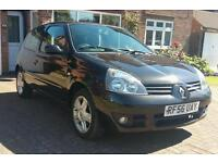 RENAULT CLIO 1.2 16v SPORT(2007)1 LADY Owner-12 MONTHS MOT-BLACK-15'' Alloys-CAM-BELT Fully Replaced