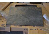 SLATE-LOOK CERAMIC FLOOR TILE 12M2 LOT NON-SLIP BLACK