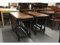 ** BARLEY TWIST DROP LEAF TABLES **