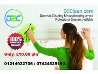 End of Tenancy/Deep Clean/Carpet clean/Commercial clean from £10.00 phr