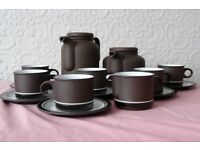 Hornsea Pottery Contrast tea/coffee set