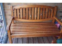 Solid teak garden bench from Indonesia