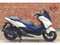 Honda Forza 125cc (16 REG) in white, Excellent condition with Only 3855 Miles!