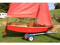 Mirror Sailing Dinghy with Trident Combi Trailer