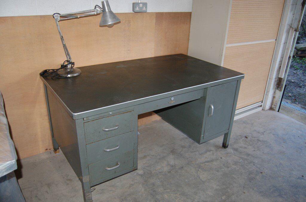 Vintage Metal Desk Art Mid Century