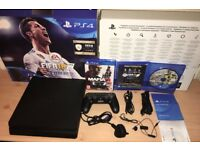Sony Playstation 4 (PS4) 500GB Boxed like NEW with 2 Games , 1 Controller, Headset and Warranty