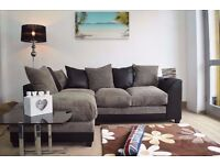 Jumbo Cord + Leather Sofa. Avlble in Corner or 3 and 2 Seater Edison