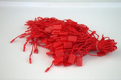 7 500 Pcs Red Hang Tag Nylon String Flat Snap Lock Pin Loop Fastener Ties